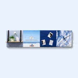 Blauwe wanddeco - set 4 panelen - combi 1