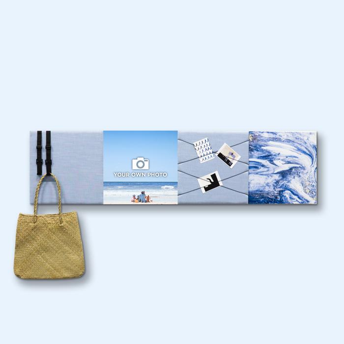 Blauwe wanddeco - set 4 panelen - combi 6