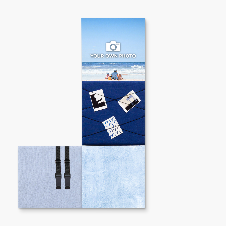 Blauwe wanddeco - set 4 panelen - combi 7