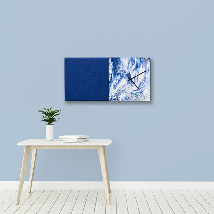 Blauwe wanddeco - set 2 panelen - combi 11