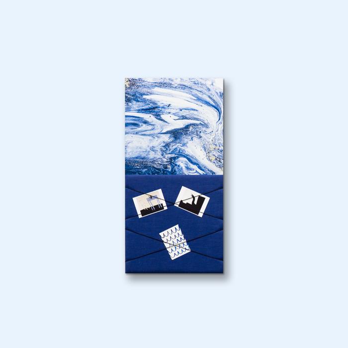 Blauwe wanddeco - set 2 panelen - combi 1