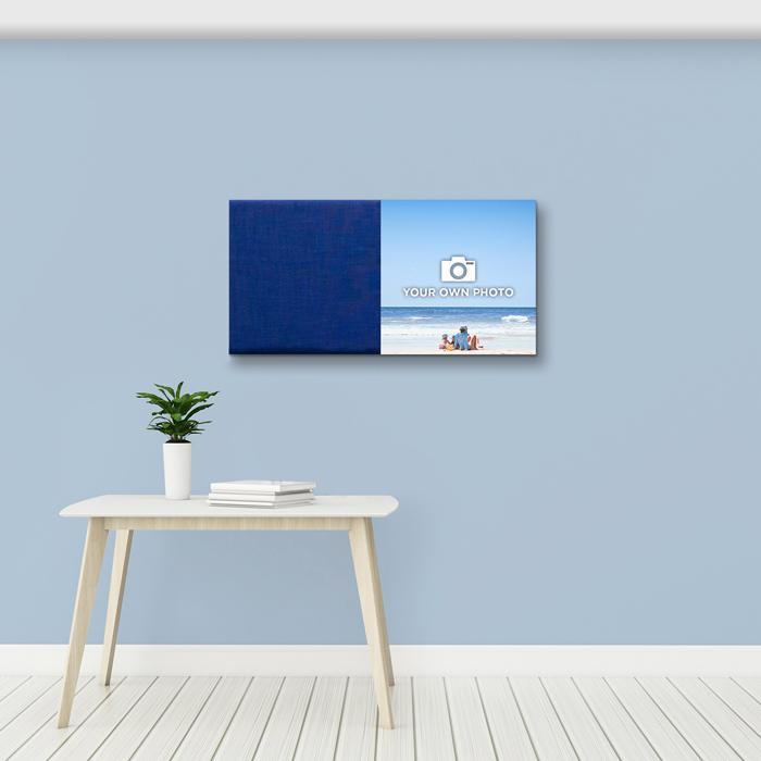 Blauwe wanddeco - set 2 panelen - combi 4