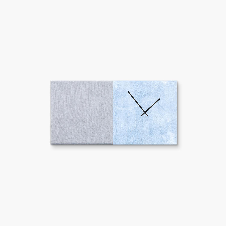 Blauwe wanddeco - set 2 panelen - combi 5