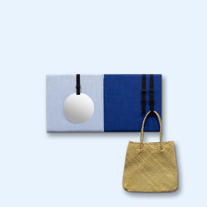 Blauwe wanddeco - set 2 panelen - combi 9