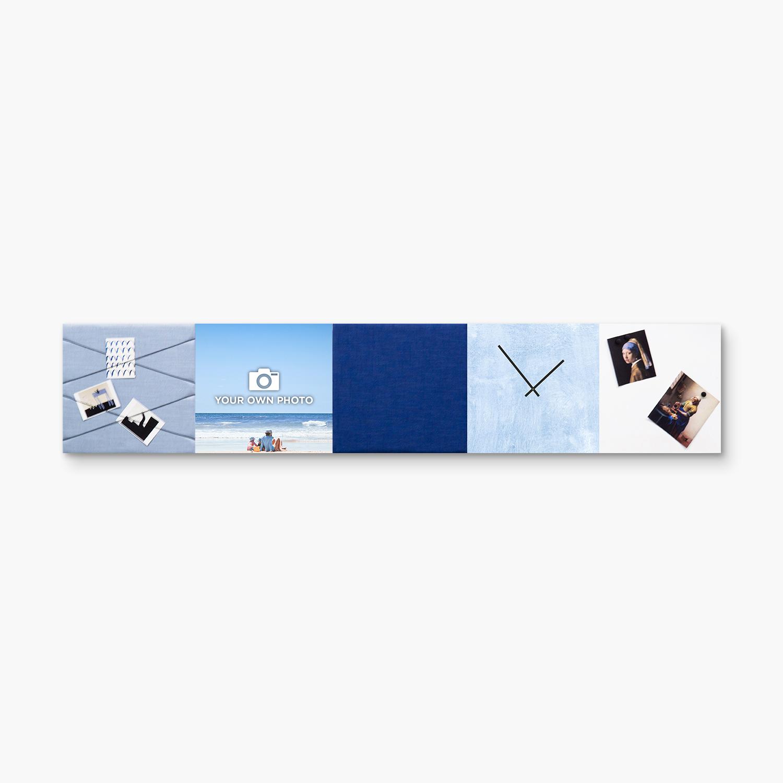 Blauwe wanddeco - set 5 panelen - combi 3