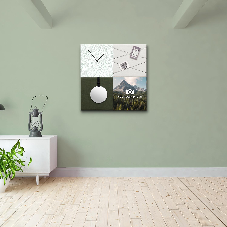 Groene wanddeco - set 4 panelen - combi 1