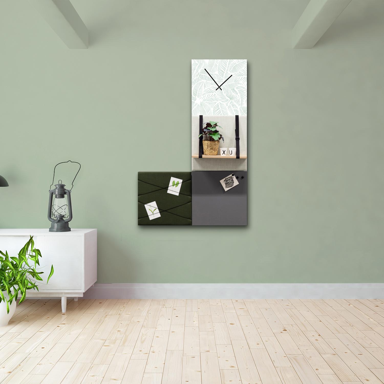 Groene wanddeco - set 4 panelen - combi 5