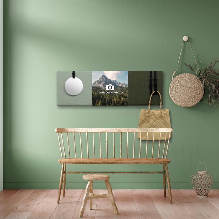 Groene wanddeco - set 3 panelen - combi 1
