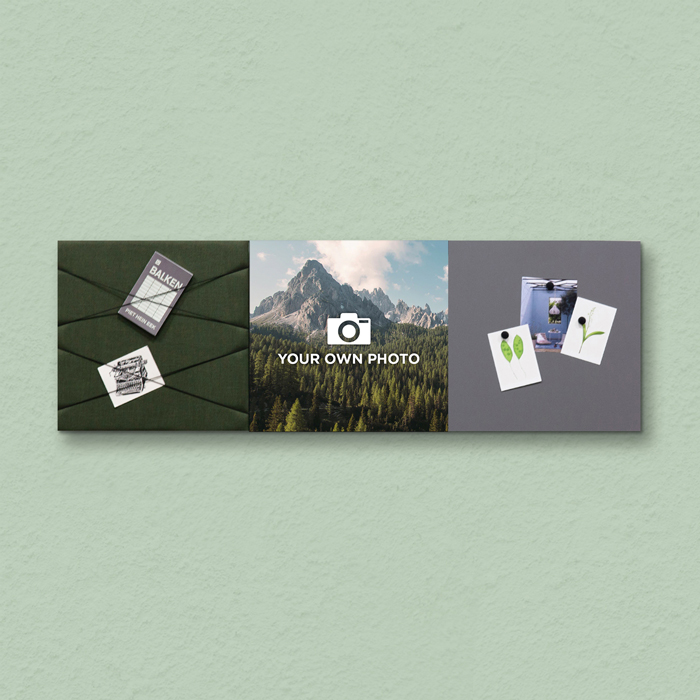 Groene wanddeco - set 3 panelen - combi 3
