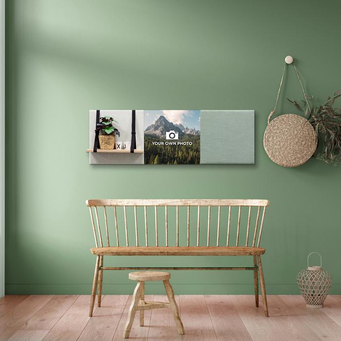 Groene wanddeco - set 3 panelen - combi 7
