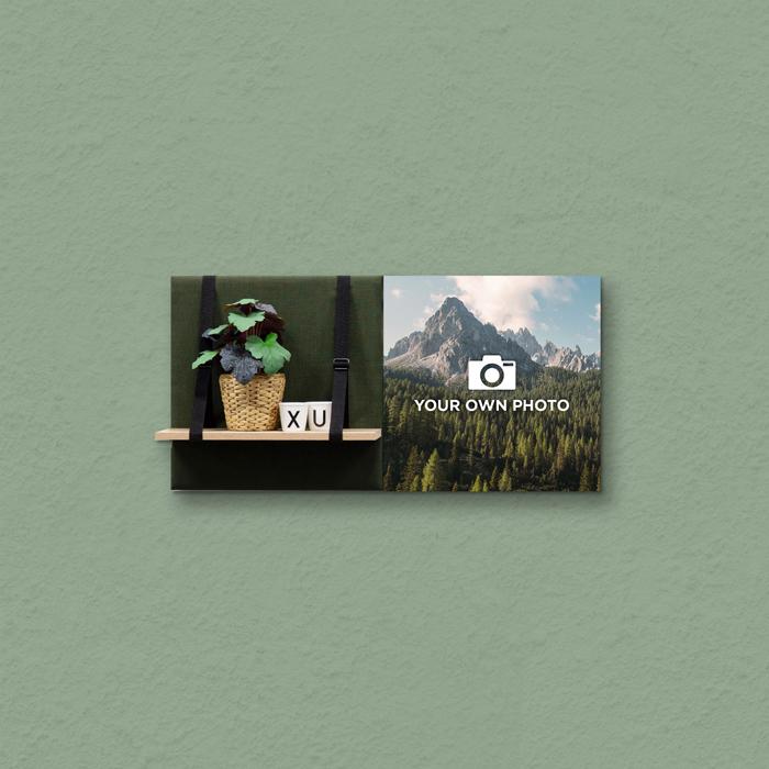 Groene wanddeco - set 2 panelen - combi 1