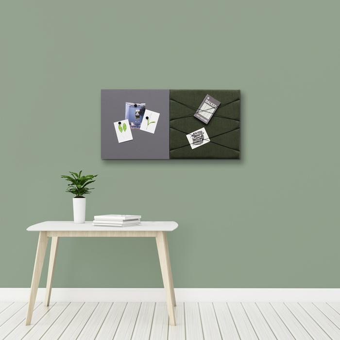 Groene wanddeco - set 2 panelen - combi 3