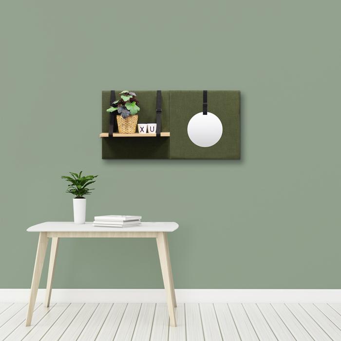 Groene wanddeco - set 2 panelen - combi 7