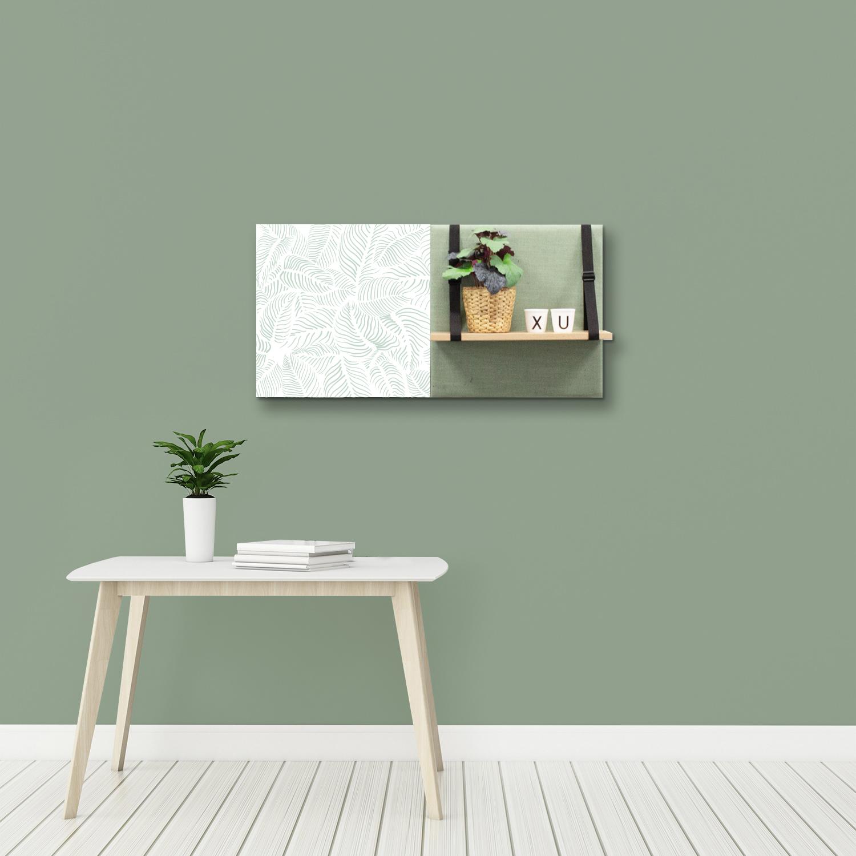 Groene wanddeco - set 2 panelen - combi 9