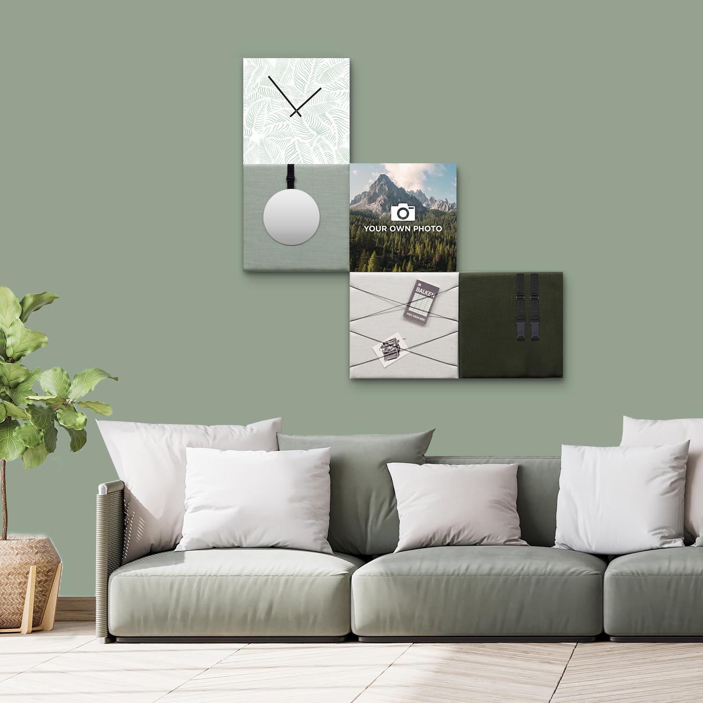 Groene wanddeco - set 5 panelen - combi 2