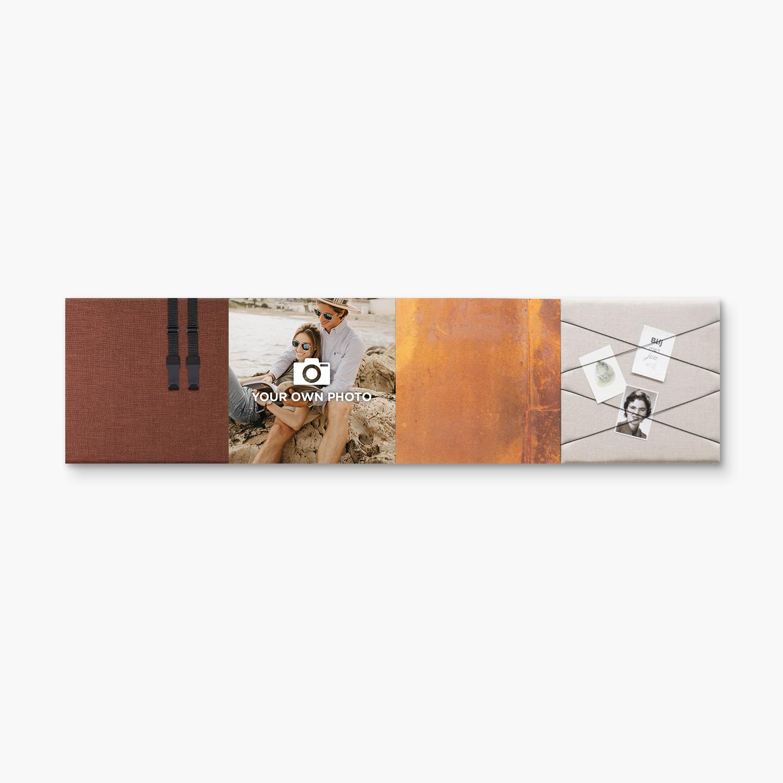 Bruine wanddeco - set 4 panelen - combi 4