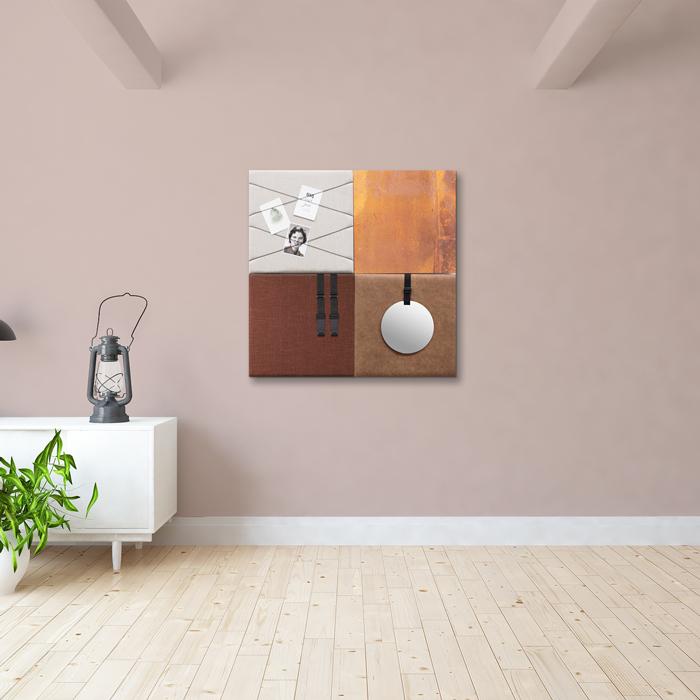 Bruine wanddeco - set 4 panelen - combi 5