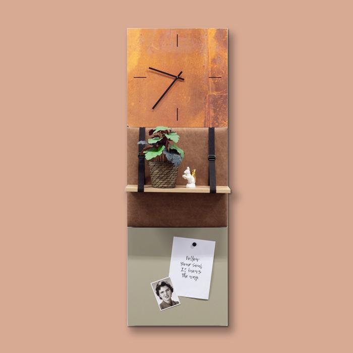 Bruine wanddeco - set 3 panelen - combi 3