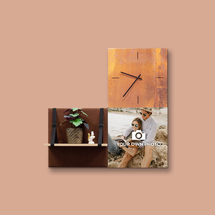 Bruine wanddeco - set 3 panelen - combi 7