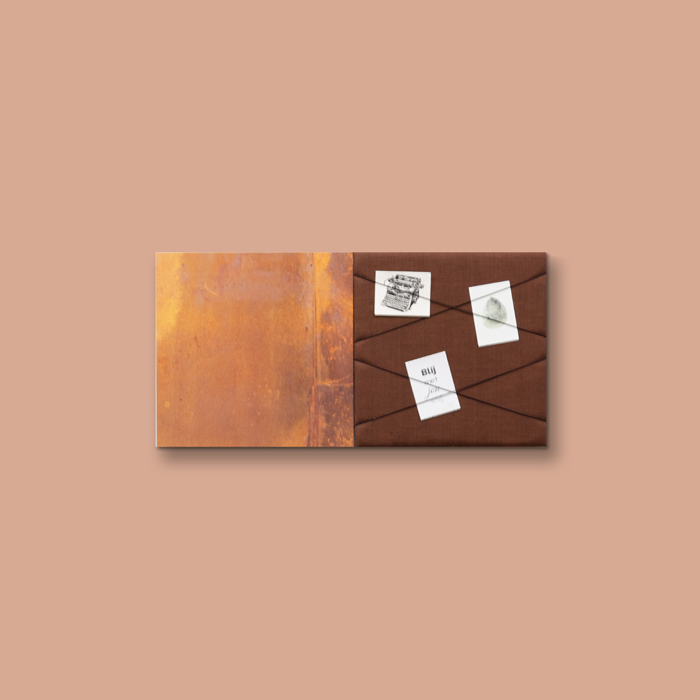 Bruine wanddeco - set 2 panelen - combi 12