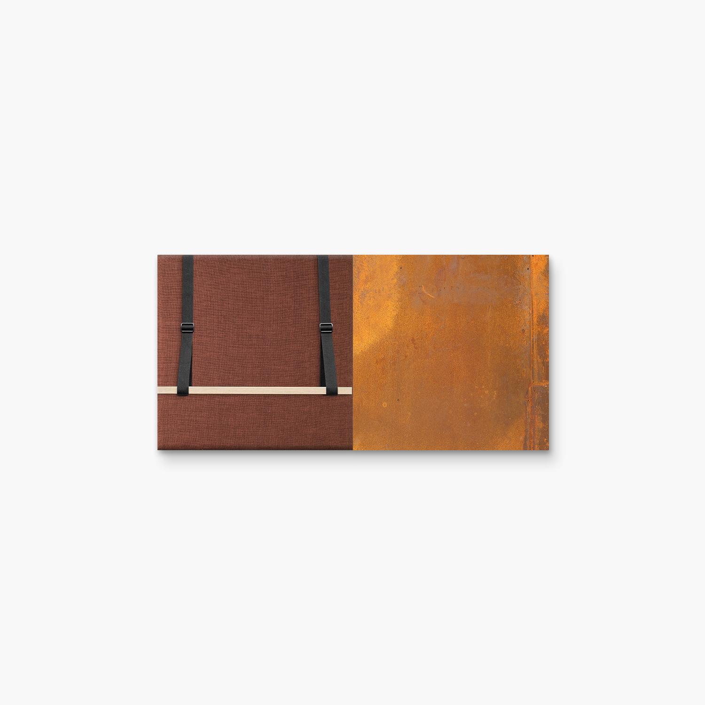 Bruine wanddeco - set 2 panelen - combi 13