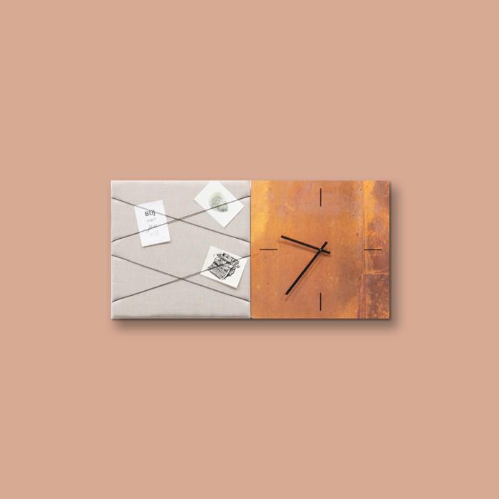 Bruine wanddeco - set 2 panelen - combi 5