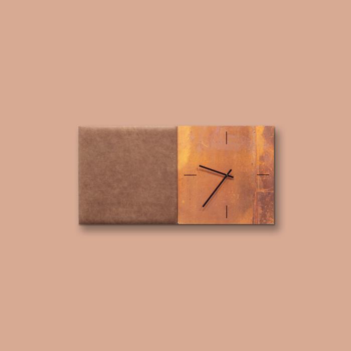 Bruine wanddeco - set 2 panelen - combi 6
