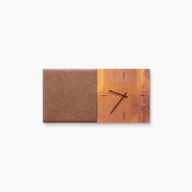 Bruine wanddeco - set 2 panelen - combi 8