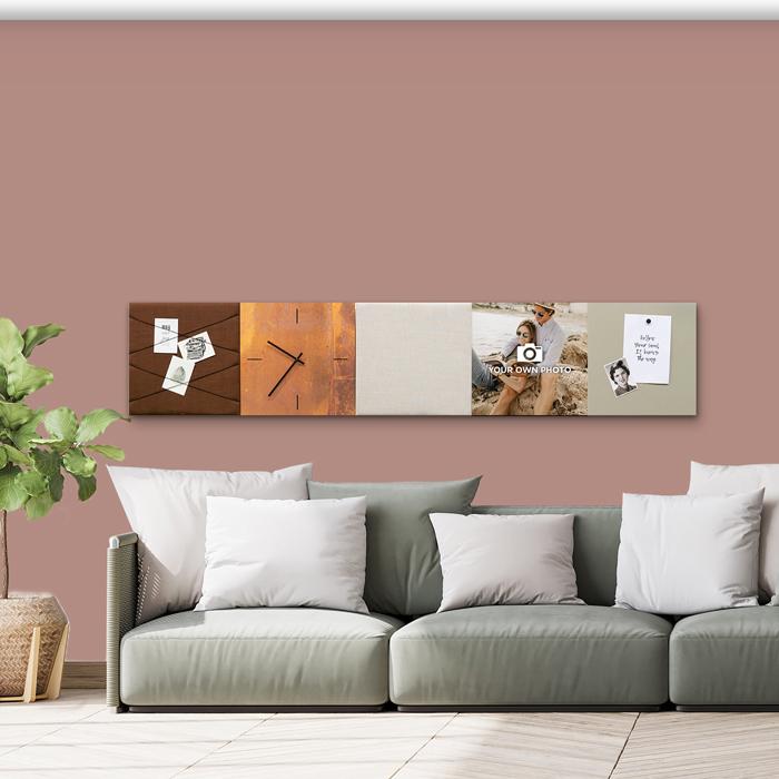 Bruine wanddeco - set 5 panelen - combi 1