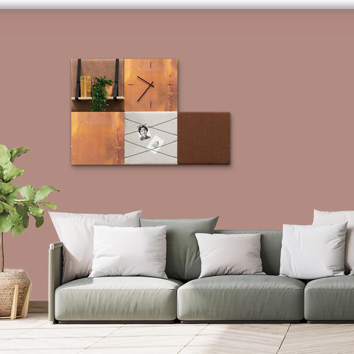 Bruine wanddeco - set 5 panelen - combi 5