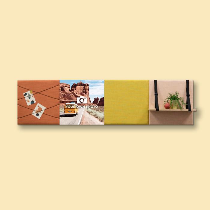 Kleurrijke wanddeco - set 4 panelen - combi 10