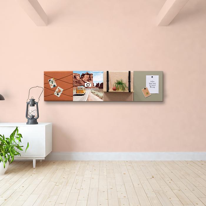 Kleurrijke wanddeco - set 4 panelen - combi 11