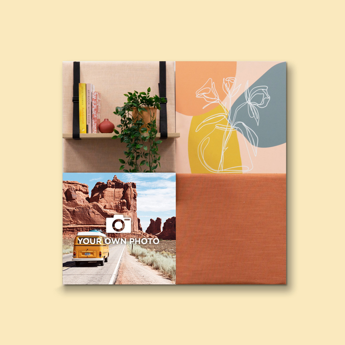 Kleurrijke wanddeco - set 4 panelen - combi 1