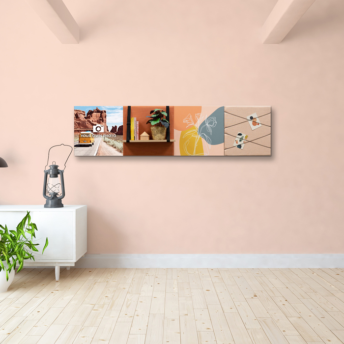 Kleurrijke wanddeco - set 4 panelen - combi 2