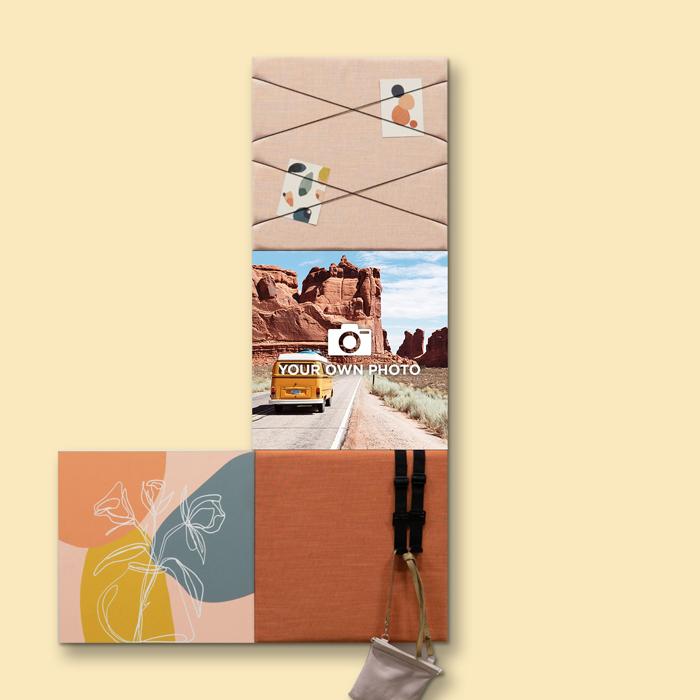 Kleurrijke wanddeco - set 4 panelen - combi 3