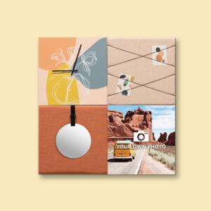 Kleurrijke wanddeco - set 4 panelen - combi 4
