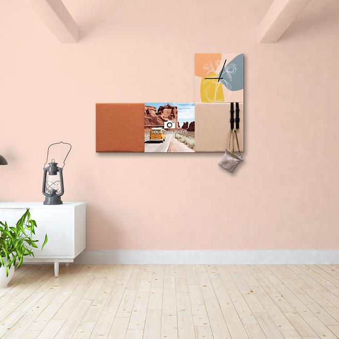 Kleurrijke wanddeco - set 4 panelen - combi 5