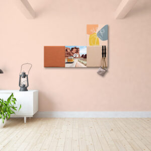 Kleurrijke wanddeco - set 4 panelen - combi 6