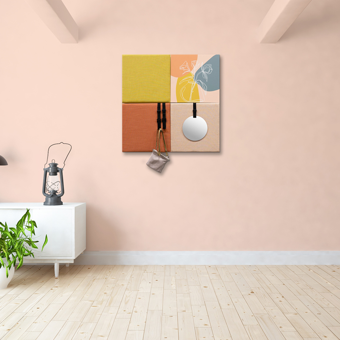 Kleurrijke wanddeco - set 4 panelen - combi 7