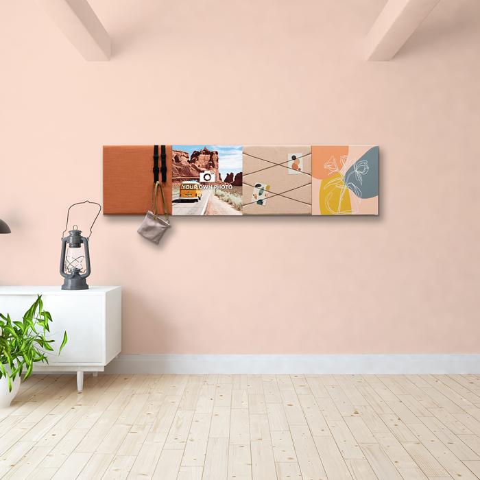 Kleurrijke wanddeco - set 4 panelen - combi 8