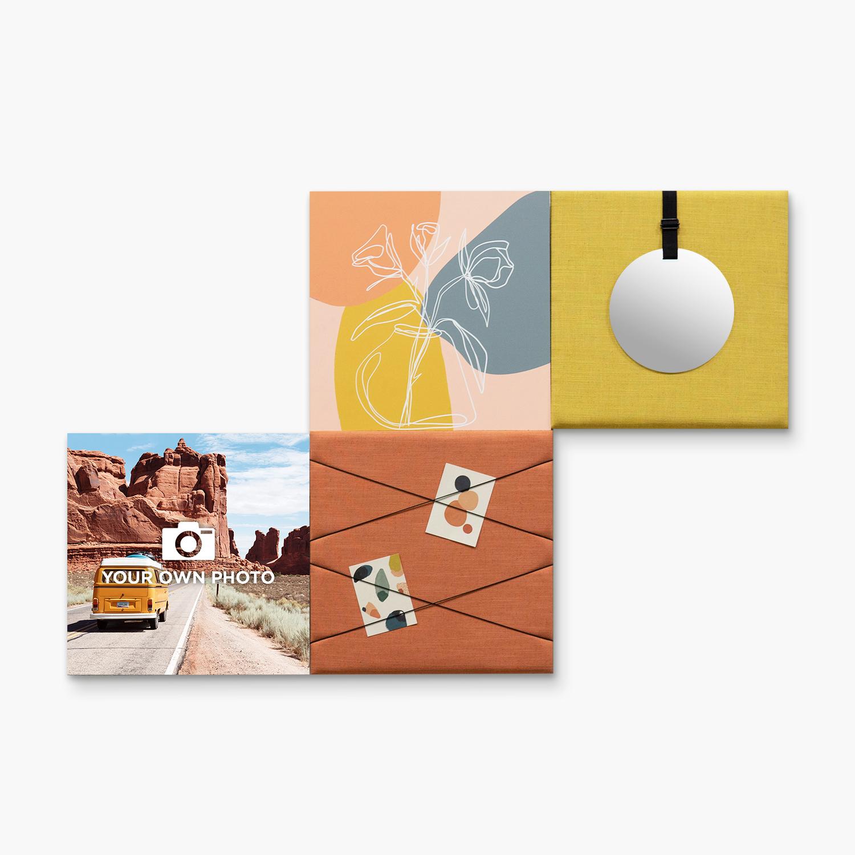 Kleurrijke wanddeco - set 4 panelen - combi 9
