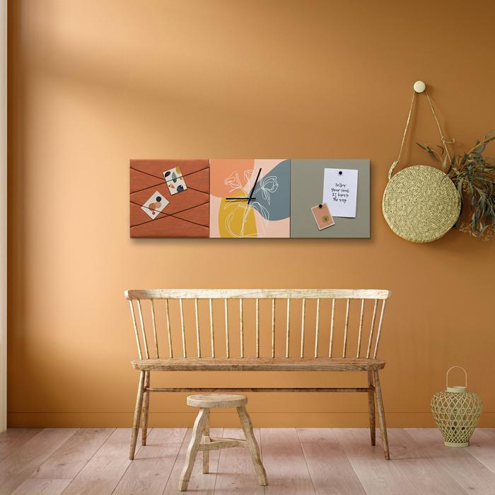 Kleurrijke wanddeco - set 3 panelen - combi 3