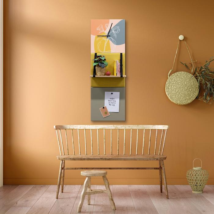 Kleurrijke wanddeco - set 3 panelen - combi 4