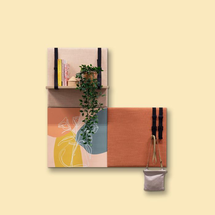 Kleurrijke wanddeco - set 3 panelen - combi 5