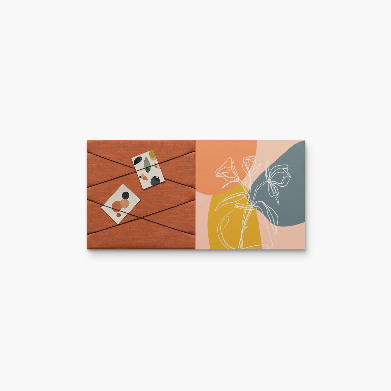 Kleurrijke wanddeco - set 2 panelen - combi 11