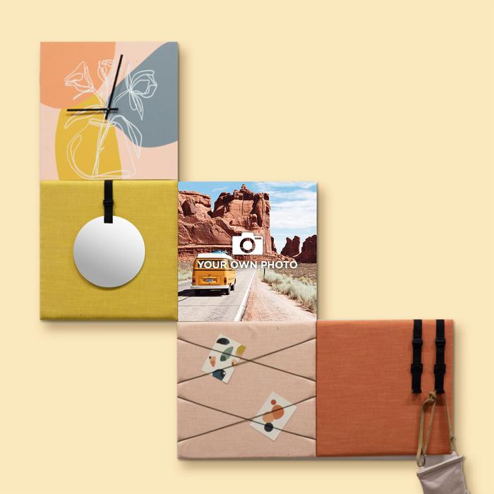 Kleurrijke wanddeco - set 5 panelen - combi 2