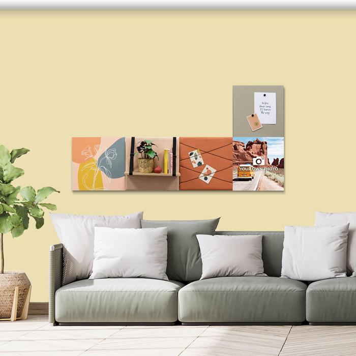 Kleurrijke wanddeco - set 5 panelen - combi 4