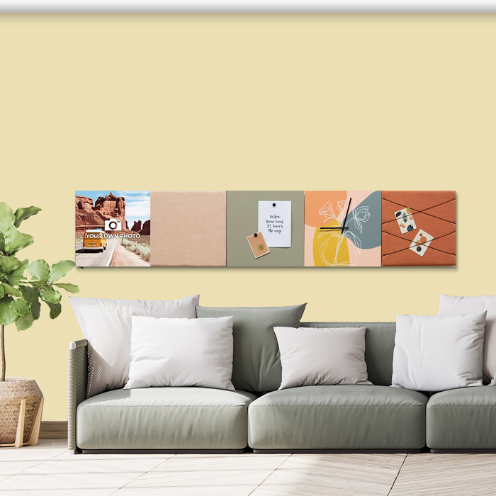 Kleurrijke wanddeco - set 5 panelen - combi 5