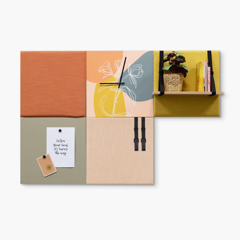 Kleurrijke wanddeco - set 5 panelen - combi 6