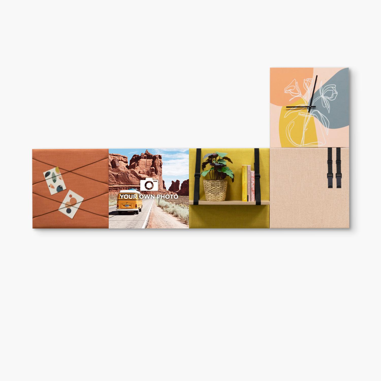 Kleurrijke wanddeco - set 5 panelen - combi 7